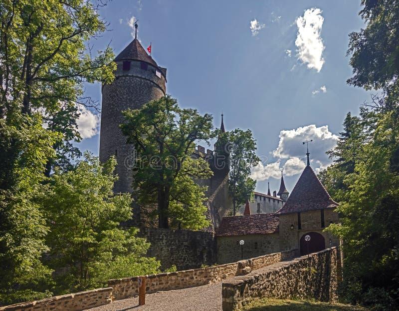 Castillo de Lucens imágenes de archivo libres de regalías