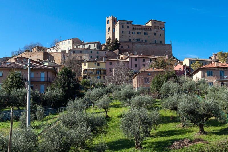 Castillo de Malatesta en longiano fotos de archivo libres de regalías