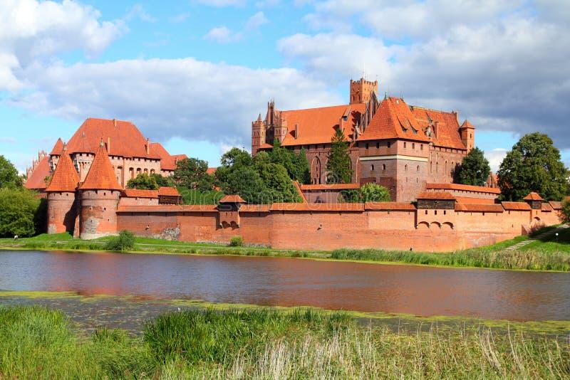 Castillo de Malbork imágenes de archivo libres de regalías