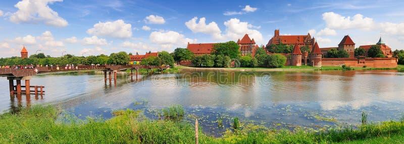 Castillo de Malbork, Polonia foto de archivo