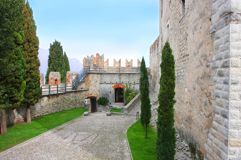 Castillo de Malcesine Italia fotos de archivo