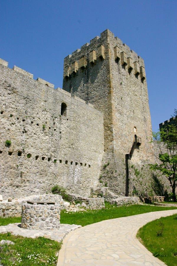 Castillo de Manasija imagen de archivo