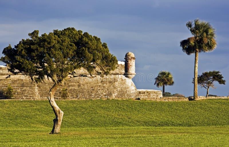 castillo de marcos san arkivfoton