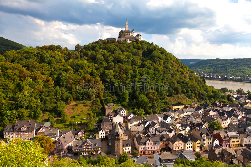 Castillo de Marksburg, Alemania imagen de archivo