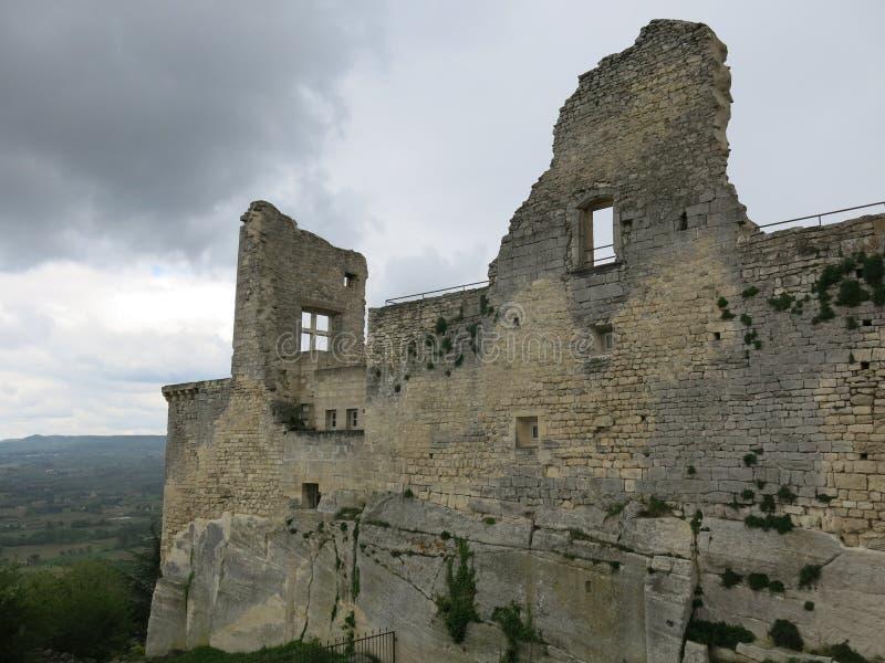Castillo de Marquis de Sade imagen de archivo