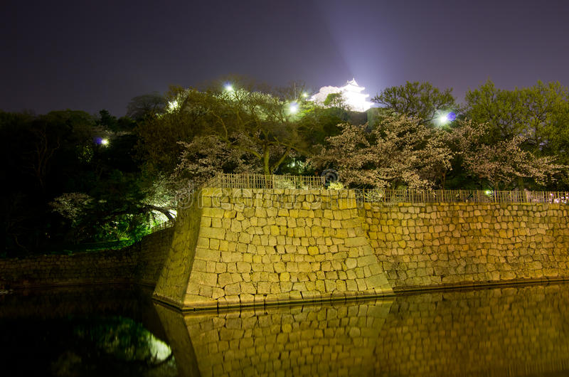 Castillo de Marugame en la noche imagen de archivo libre de regalías
