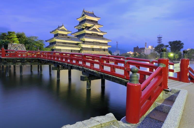Castillo de Matsumoto en Matsumoto, Japón fotografía de archivo libre de regalías
