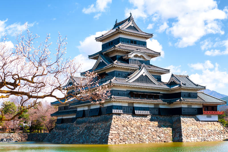Castillo de Matsumoto, Nagano, Japón imagen de archivo