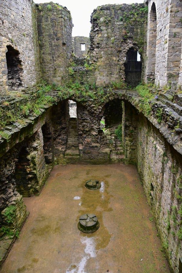 Castillo de Middleham en Wensleydale, Yorkshire fotografía de archivo