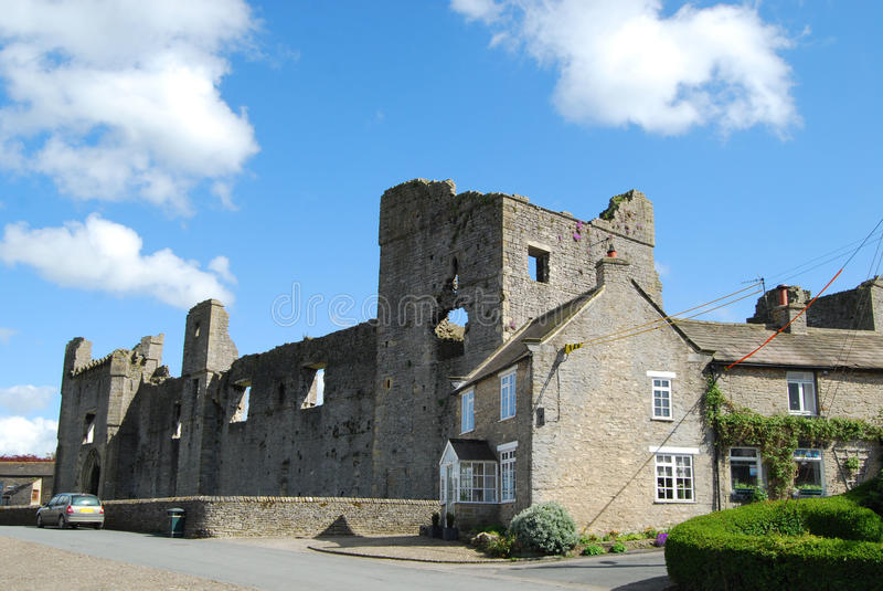 Castillo de Middleham, North Yorkshire fotografía de archivo