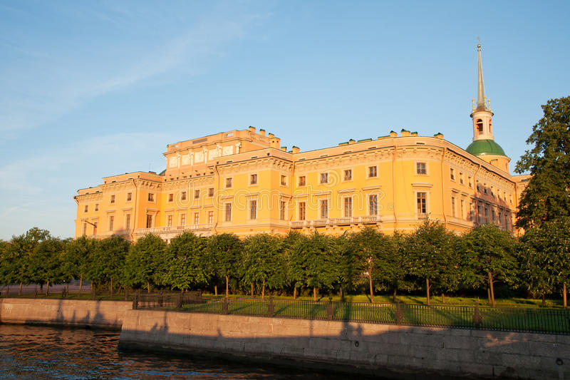 Castillo de Mikhailovsky fotografía de archivo