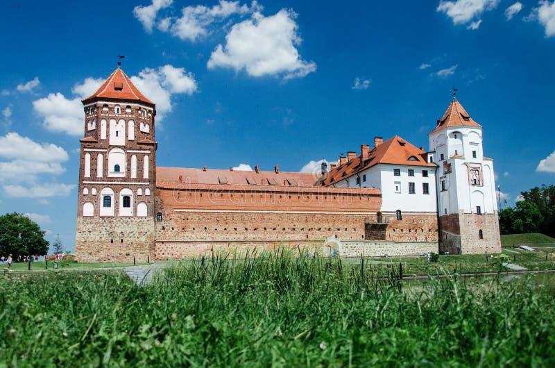 Castillo de MIR, Belarus imagen de archivo libre de regalías