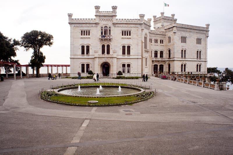 Castillo de Miramare, Trieste foto de archivo