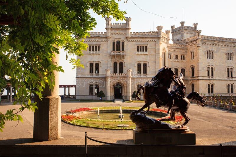 Castillo de Miramare, Trieste fotos de archivo libres de regalías