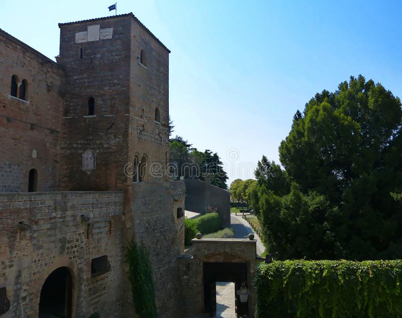 Castillo de Monselice, Véneto, Italia imagenes de archivo