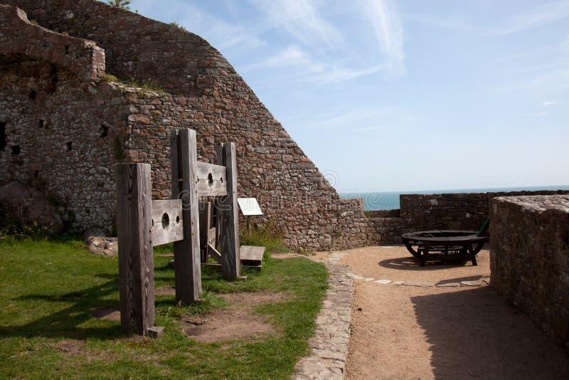 Castillo de Mont Orgueil fotos de archivo