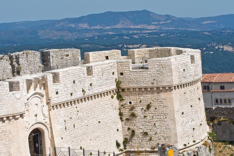 Castillo de Monte Sant'Angelo. Puglia. Italia. imágenes de archivo libres de regalías