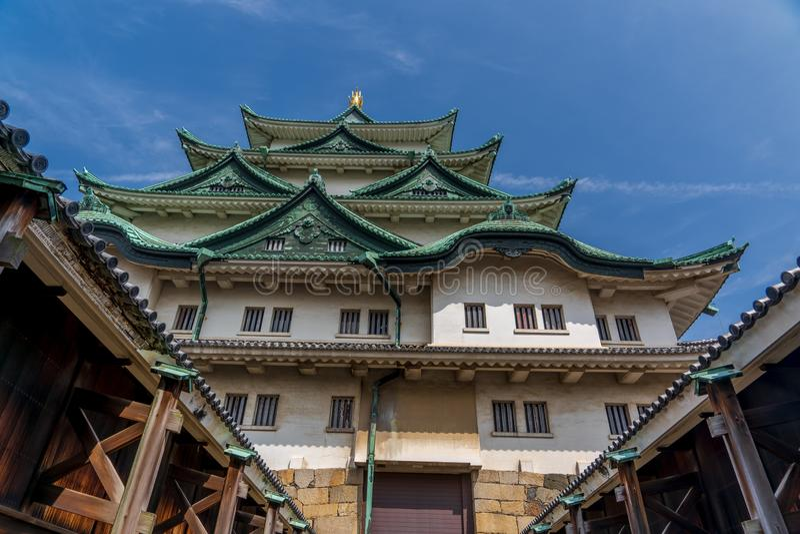 Castillo de Nagoya durante la primavera imágenes de archivo libres de regalías