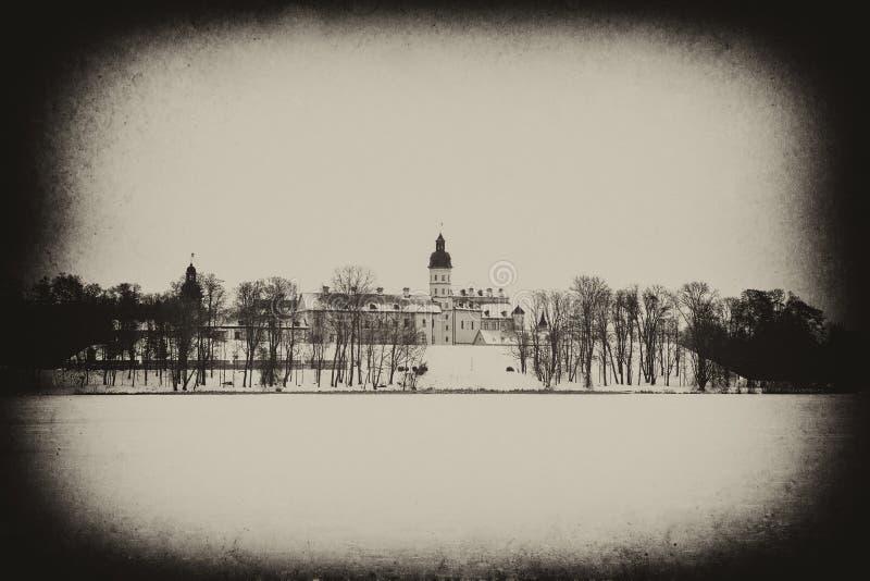 Castillo de Nesvizh Invierno imágenes de archivo libres de regalías