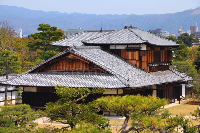 Castillo de Nijo, Kyoto fotos de archivo