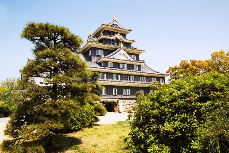 Castillo de Okayama en Japón imagen de archivo libre de regalías