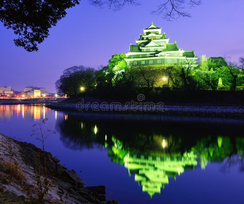 Castillo de Okayama fotos de archivo libres de regalías