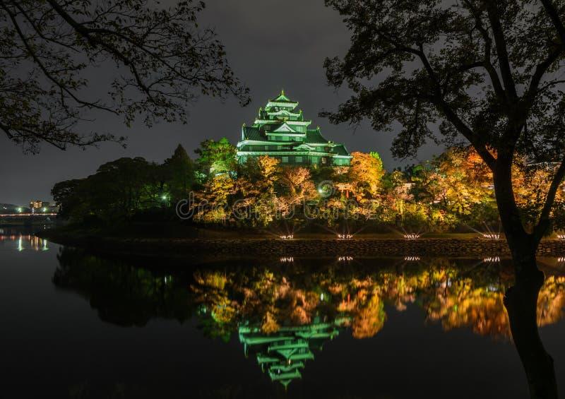 Castillo de Okayama en Okayama, Japón foto de archivo