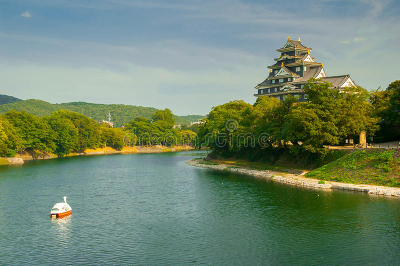 Castillo de Okayama-jo fotografía de archivo