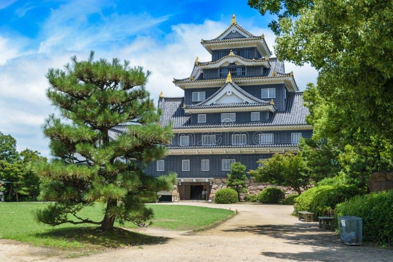 Castillo de Okayama o castillo del cuervo imágenes de archivo libres de regalías