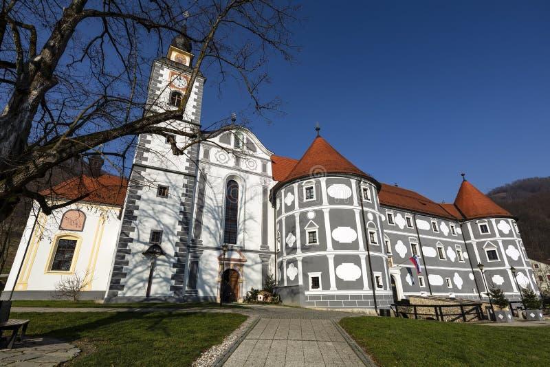 Castillo de Olimje en Eslovenia Edificios famosos en el castillo del monasterio en Olimje Eslovenia fotografía de archivo