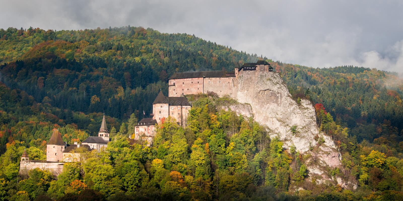 Castillo de Orava imágenes de archivo libres de regalías