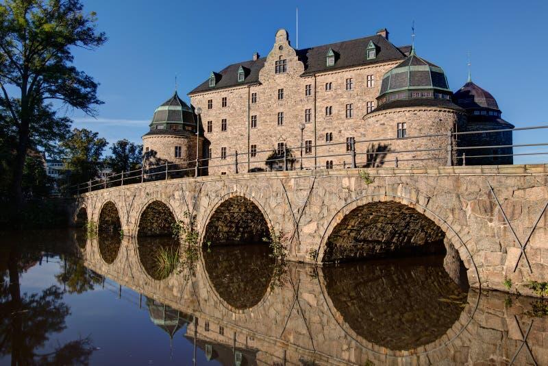 Castillo de Orebro, Suecia fotografía de archivo