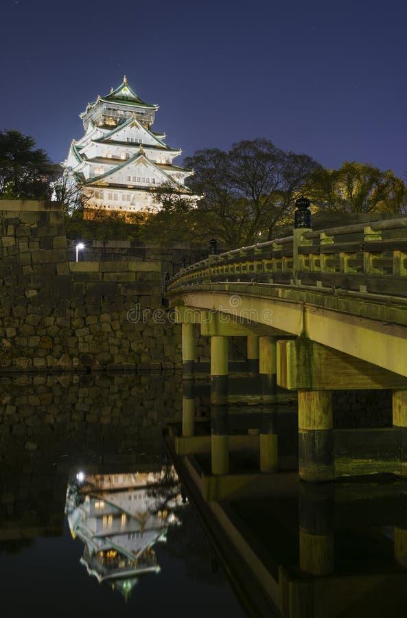 Castillo de Osaka en Japón foto de archivo