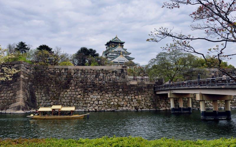 Castillo de Osaka, Japón fotografía de archivo