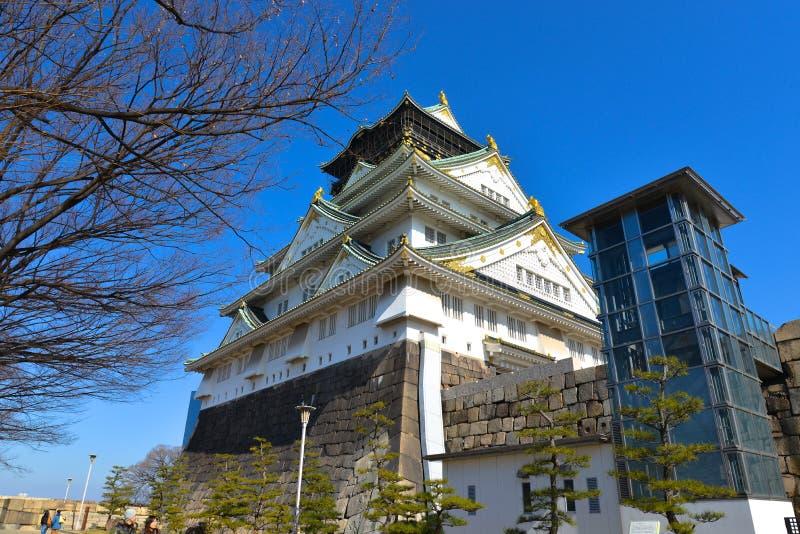Castillo de Osaka, Japón imagen de archivo