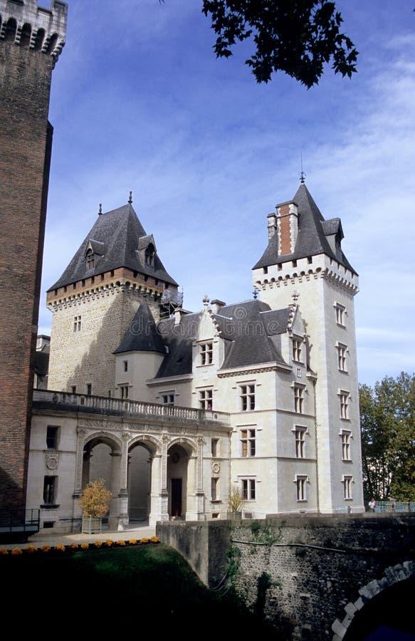 Castillo de Pau imagen de archivo libre de regalías