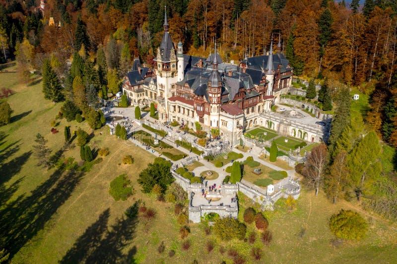 Castillo de Peles, Sinaia, Rumania foto de archivo