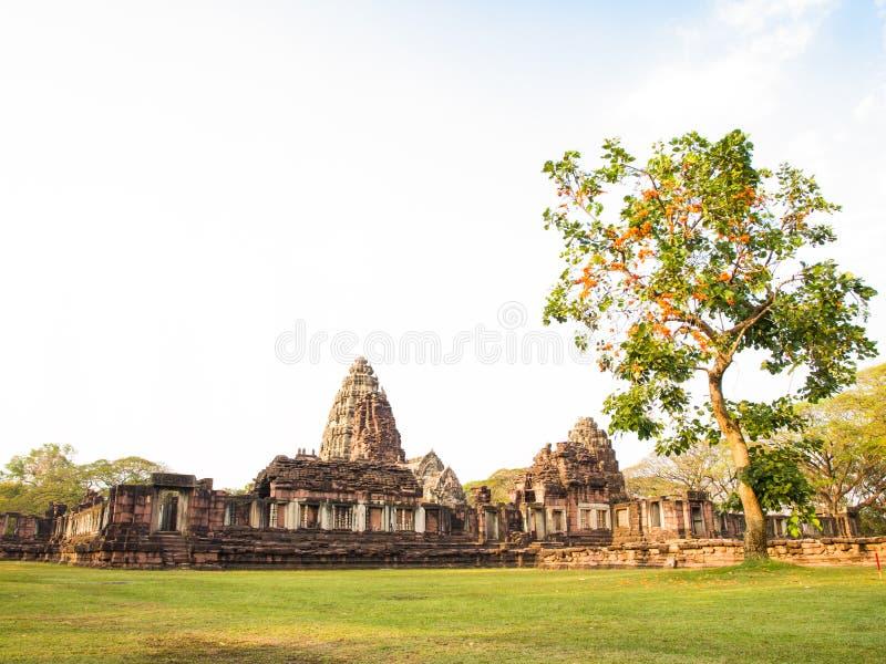 Castillo de piedra antiguo, Phimai Tailandia imágenes de archivo libres de regalías