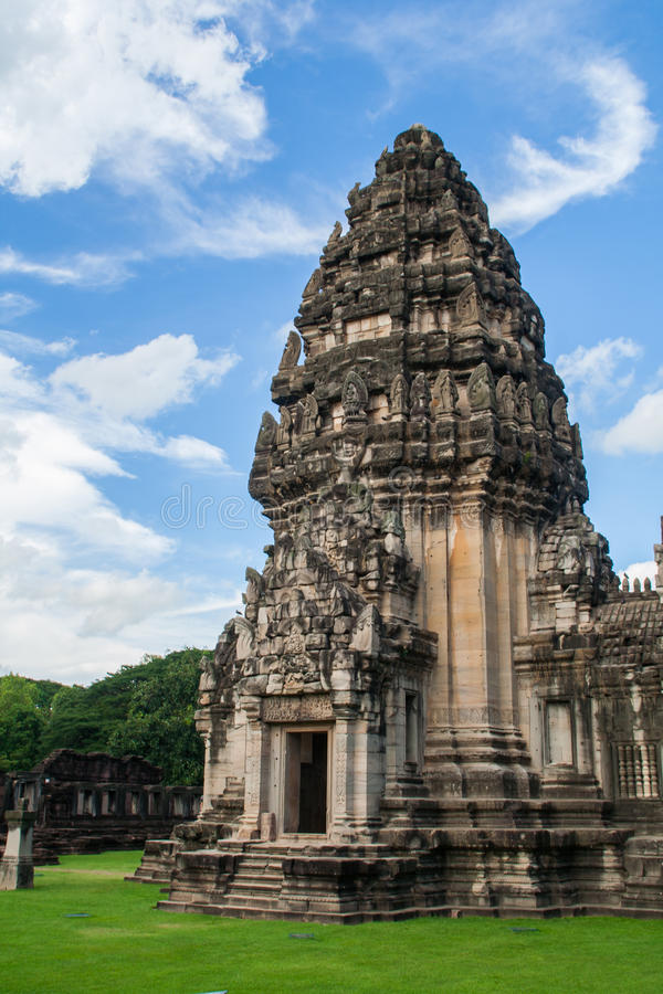 Castillo de piedra principal del parque histórico de Phimai fotografía de archivo libre de regalías