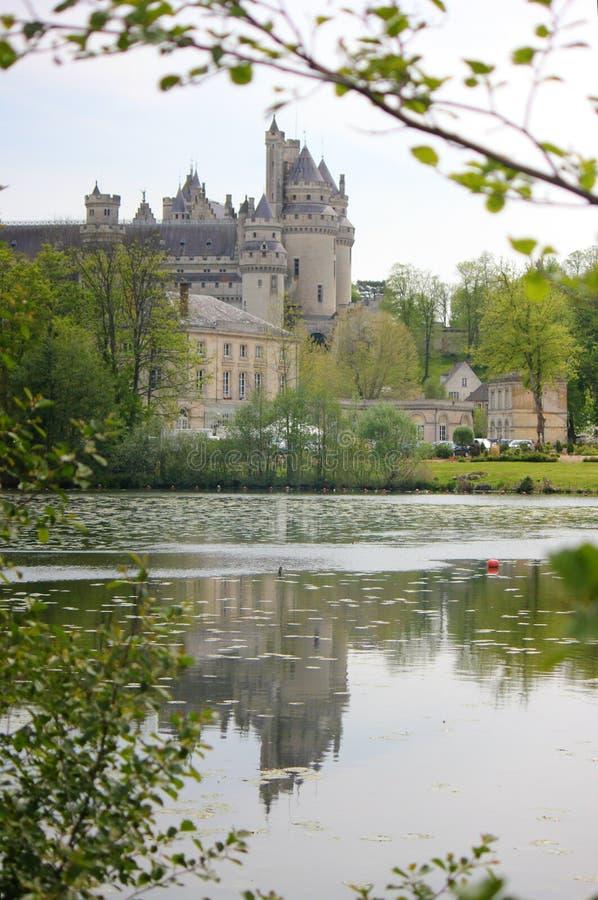 Castillo de pierrefonds en Picardía, Francia fotos de archivo