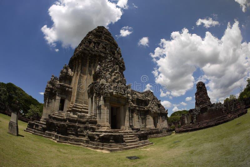 Castillo de Pimai, parque histórico y castillo antiguo en Tailandia fotos de archivo libres de regalías