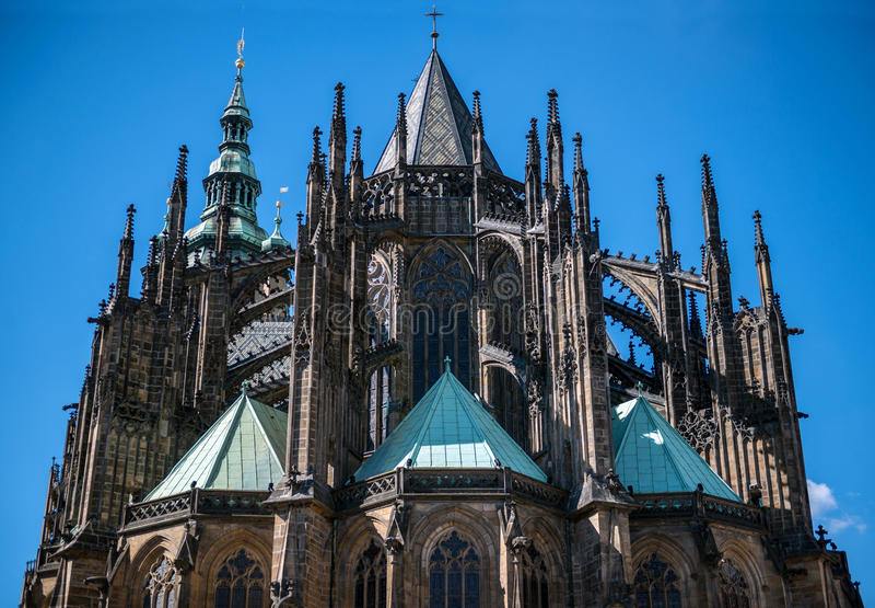 Castillo de Praga de la catedral del St Vitus Praga fotografía de archivo libre de regalías