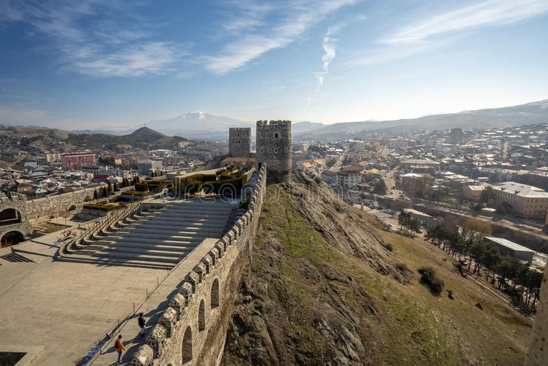 Castillo de Rabati en la ciudad de Akhaltsikhe fotos de archivo libres de regalías