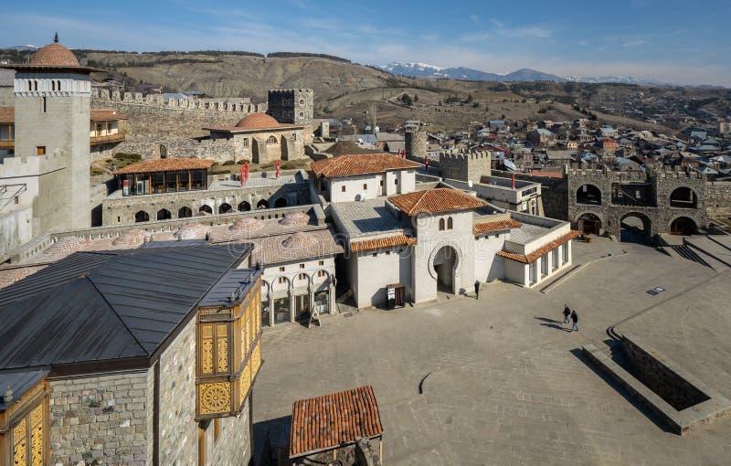 Castillo de Rabati en la ciudad de Akhaltsikhe foto de archivo