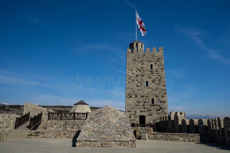 Castillo de Rabati en la ciudad de Akhaltsikhe fotografía de archivo