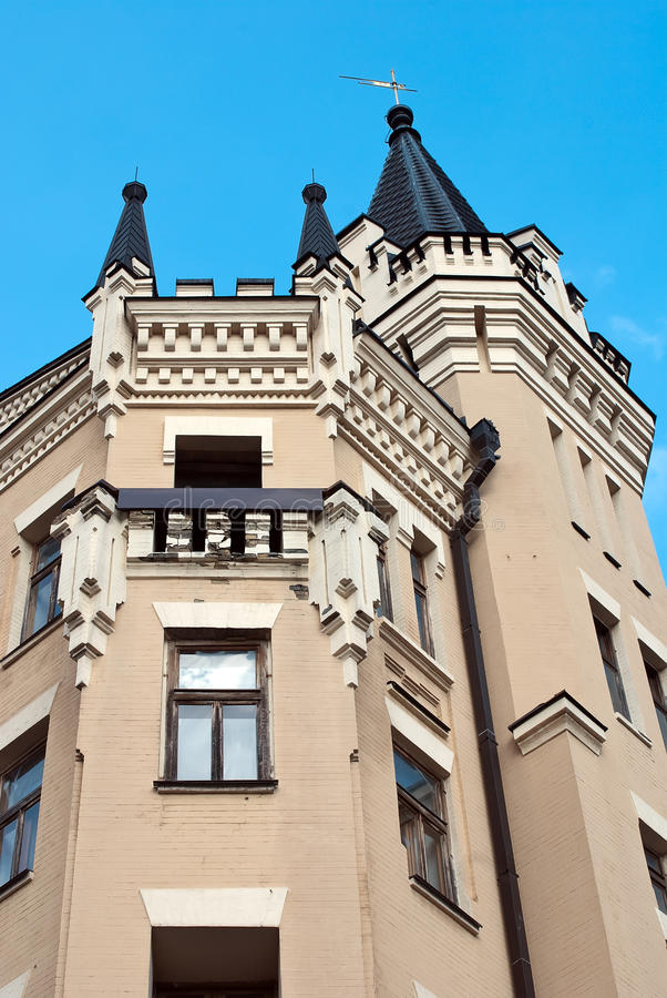 Castillo de rey Richard en Kiev, Ukr fotografía de archivo