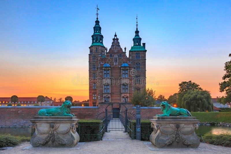 Castillo de Rosenborg en Copenhague, Dinamarca foto de archivo