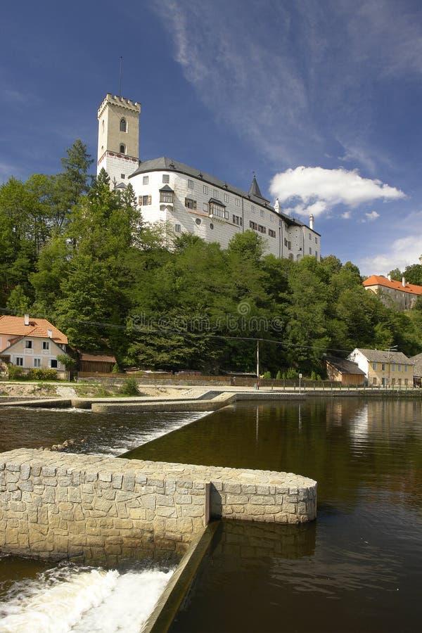 Castillo de Rozmberk foto de archivo