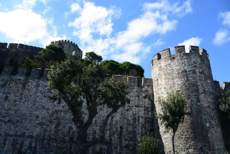 Castillo de Rumeli Hisar, Estambul, Turquía fotografía de archivo libre de regalías