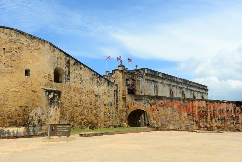 Castillo De San cristà ³ bal, San Juan obraz stock
